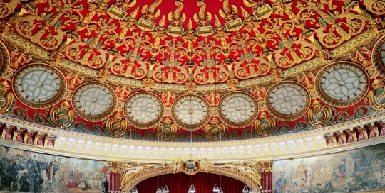 Visit Romania, Why is Romania different -Bucharest Enescu Festival Romanian Athenaeum interior, Copyright David Levent