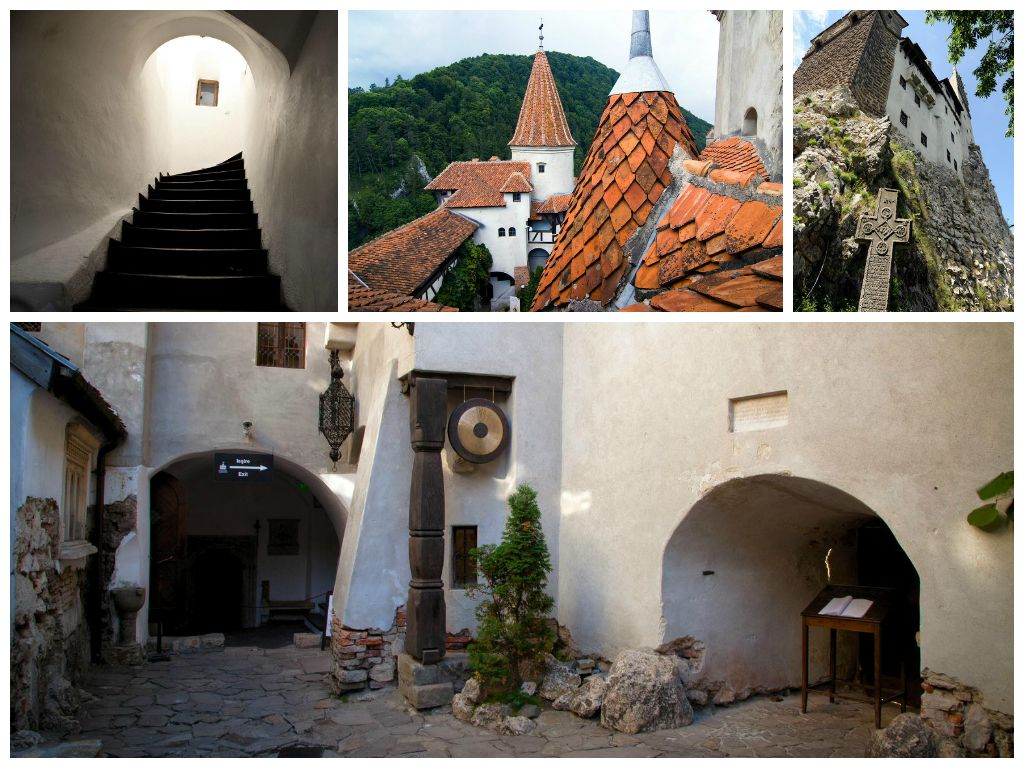 Interior of Bran Castle, Dracula Court, Vlad The Impaler, Bran, Brasov, copyright Bran Castle