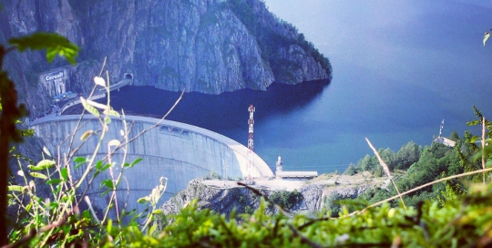 Vidraru Lake, view from Vidraru Dam, Arges Valley, Pure Romania