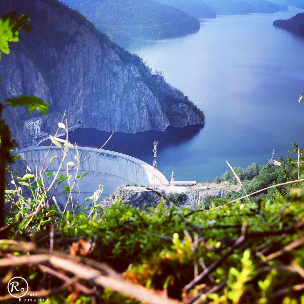 Vidraru Lake, view from Vidraru Dam, Arges Valley, Pure Romania